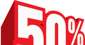 50 percents logo