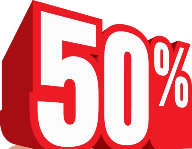 50 percents logo